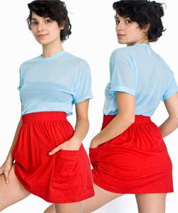 from americanapparel.com jersey pocket skirt